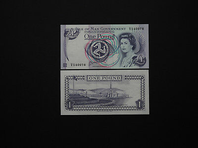 Isle of Man Early 1 Pound Banknotes  -  Date 1991 QEII scarce notes in UNC