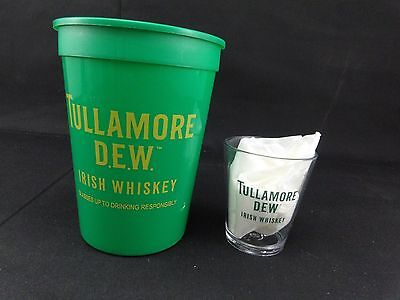 Tullamore Dew Irish Whiskey 25 Plastic Drink cups & 7 Shot Cups for mancave