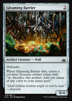 2x Gleaming Barrier (FOIL) - MTG Rivals of Ixalan - NEW