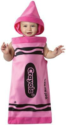 Crayola CRAYON Tickle Me Pink Infant Costume Rasta Imposta Size 3-9 Months NEW