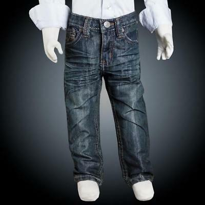Boys Trendy Wrinkled Toddler Jeans Size 2T-4T with Stitched Pocket Details