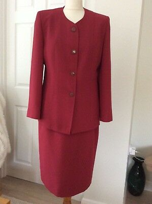 Eastex lined skirt/jacket suit size12 rose/red stylish - Wedding - worn once