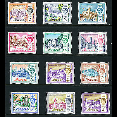 BERMUDA 1962-68 Short Set to 1s6d 12 Values SG 163-173 Mint Never Hinged (AT225)