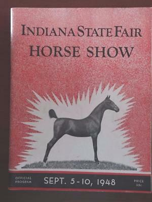 1948 Indiana State Fair Horse Show Program Swamp Man Pontiac Woody Ad D1F1