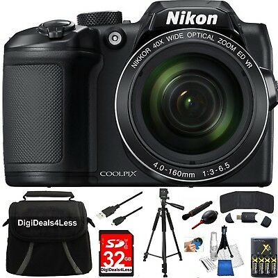 Nikon COOLPIX B500 16MP 40x Optical Zoom Digital Camera 32GB Bundle+EXTRAS!