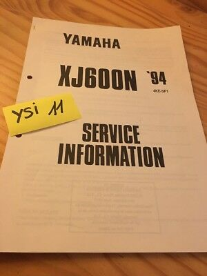 Yamaha XJ600N 1994 XJN 600 service information technique technical data FR