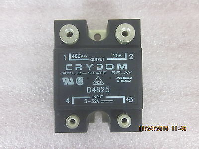 1 pc of D4825 Crydom Solid State Relay 25A 3-32 VDC to 24-480V AC SSR
