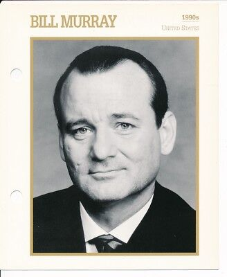 "BILL MURRAY MOVIE STAR ENCYCLOPEDIA 5 3/4"" X 7"" CARD-1990's"