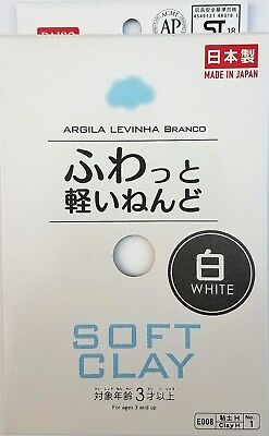 Daiso Japan New DIY Soft Clay Arcilla Suave Lightweight Hand Craft (White)
