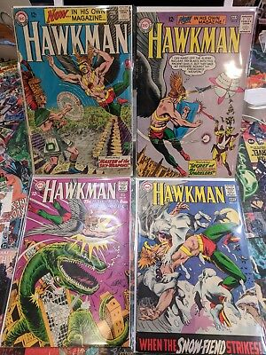 HAWKMAN COMICS 1 2 23 and 27 Silver Age DC Comics KEY ISSUE