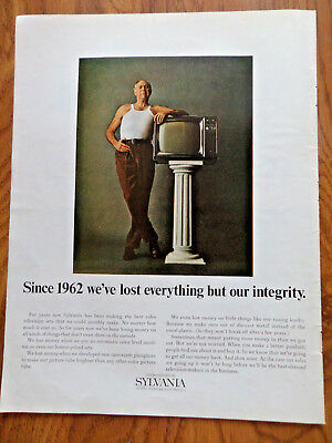 1968 Sylvania TV Ad Since 1962 we've Lost everything but our integrity