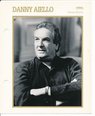 "DANNY AIELLO MOVIE STAR ENCYCLOPEDIA 5 3/4"" X 7"" CARD-1990's"