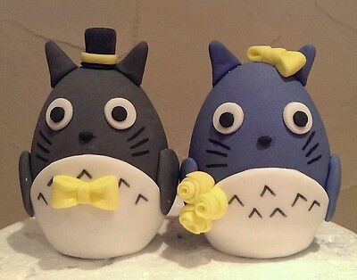 Totoro Bride and Groom Cake Toppers
