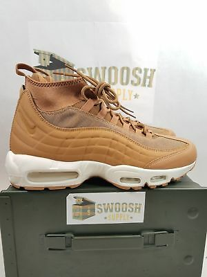 super popular a6fe0 64bc7 NIKE AIR MAX 95 Sneakerboot Flax Wheat Sail Mens sizes 806809-201