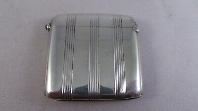 Nice Continental Antique Sterling Silver Vesta Case / Match Safe Circa 1900