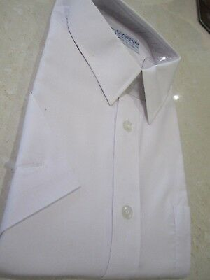 Men's Retro Grandway short sleeve White shirt Size 44