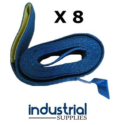 8 x Car Carrying Strap With Loop 50mm Wide x 3Mtr Trailer Tow truck Tilt tray