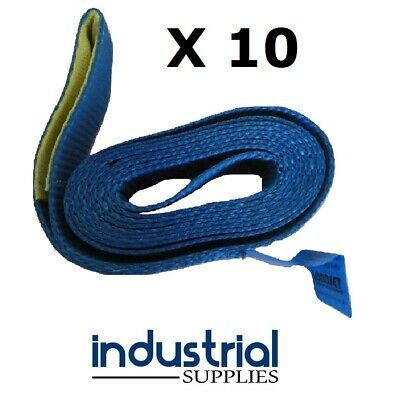 10 x Car Carrying Strap With Loop 50mm Wide x 3Mtr Trailer Tow truck Tilt tray