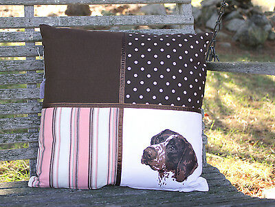 """German Shorthaired Pointer GSP 16"""" Handcrafted Pillow Cover NEW"""
