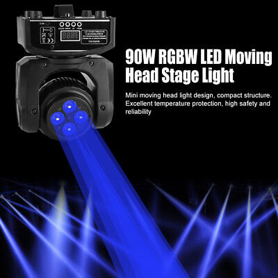 90W RGBW Stage Light LED Effect Moving Head Lights DMX Disco DJ Party Lighting