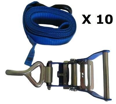 10 x Car Carrying Ratchet Tie Down 650Kg x 3Mtr Trailer Tow truck Tilt tray