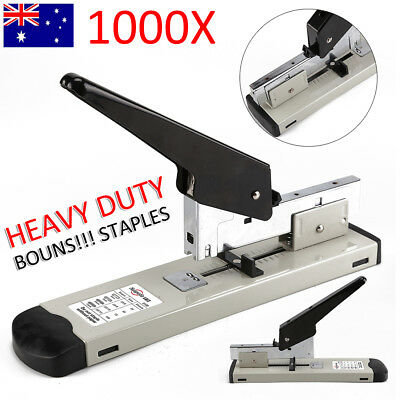 100 Sheet Stapling Capacity Bookbinding Heavy Duty Metal Stapler +1000 Staples