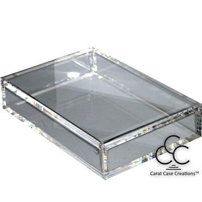Playing Card Case Carat X2 Empty Clear Strong Acrylic ~ Holds 2 Decks
