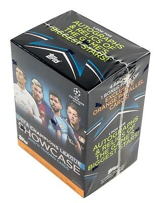 2016/17 Topps UEFA Champions League Showcase Soccer 5-Pack Box - New & Sealed
