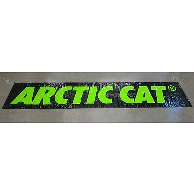 Arctic Cat 4 x 20 ft Poly Garage Shop Display Banner Sign Black & Green 4953-095