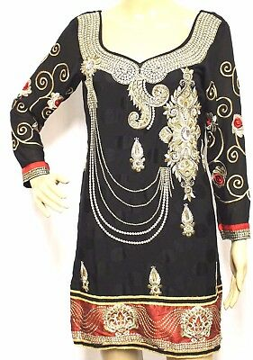 Women Kaftan Caftan Dress Muslim Abaya Moroccan Arabian Embroidered Boho M #1064