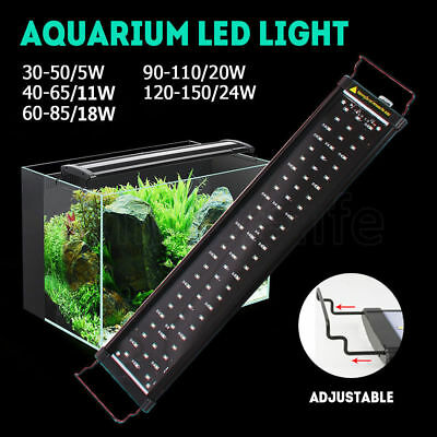 30-150cm Aqua Plant Fish Tank Light Aquarium LED Lighting 1ft/2ft/3ft/4ft/5ft AU