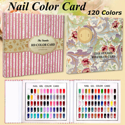120 Nail Tips Flower Colour Chart Display Book For UV/LED Gel Polish +120X Tips