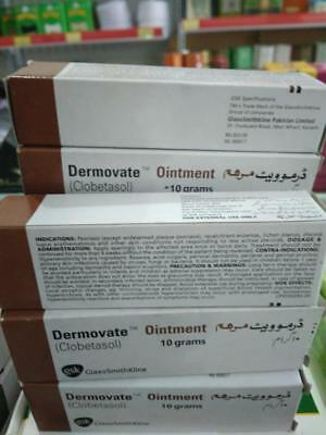 2x Dermovate Chocolate Ointment - Scar Removal - 10 gram Free Shipping Worldwide