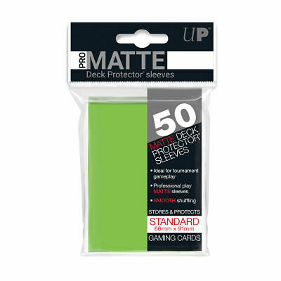 Ultra Pro Deck Protector Sleeves Matte LIME GREEN Pokemon MTG 50 ct in Pack