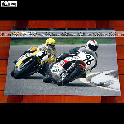 JOHNNY CECOTTO & KENNY ROBERT (IMOLA 1975) - Poster Pilotes MOTO #PM1018
