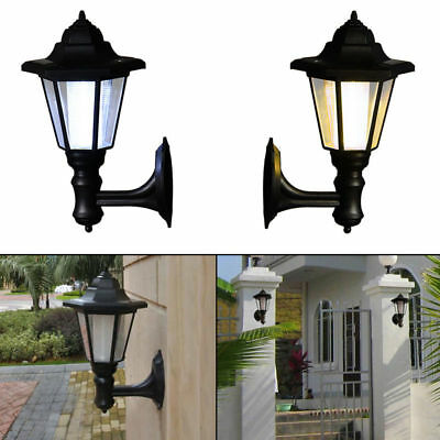 Solar Power LED Path Way Wall Landscape Mount Garden Fence Lamp Outdoor Fashion