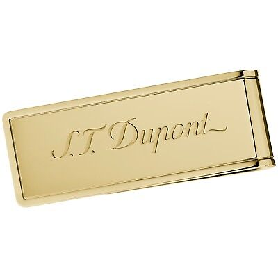 S.t. Dupont Pvd Yellow Gold Finish Money Clip Fermasoldi Finitura In Oro 003080