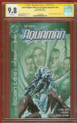 Just Imagine Stan Lee Creating Aquaman 1 CGC 9.8 SS ADAM HUGHES Justice League
