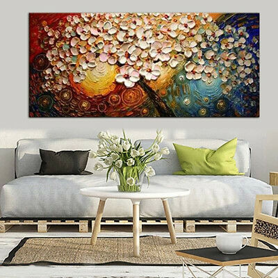 Large Flower Tree Canvas Abstract Painting Print Picture Art Unframed Home Decor