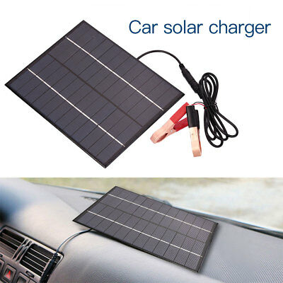 Outdoor Waterproof Polycrystalline 5.5W 12V Solar Panel Cars Battery Charger