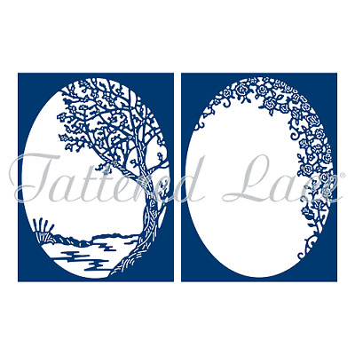 Tattered Lace Die - A Moment of Calm TLD0588 - BNIP ORIGINAL