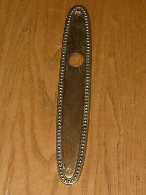 1 Vintage Brass Door Backplate Back Plate - Made in Italy