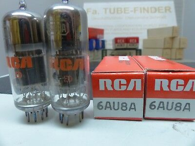 2x 6AU8A RCA US RÖHRE-TUBE-NOS-IN-BOX unused Valvola