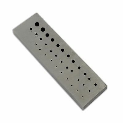 Rectangular Staking anvil 36 holes serrations watch riveting watchmakers tool sm