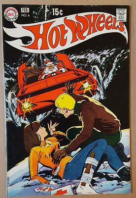 Hot Wheels # 6 (1971 / Dc Comics / Vg / Toy Tie-In / Cents Copy)