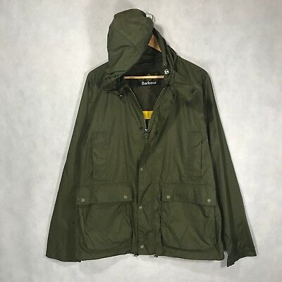 RRP £139 Barbour Croston Casual Jacket NEW Olive Green Men's Raincoat Size - L