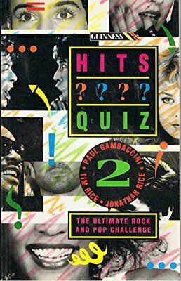 The Guinness Hits Quiz: 2 by Rice, Jonathan Paperback Book The Cheap Fast Free