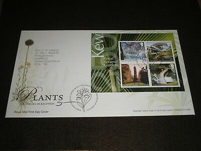 """2009 GB Stamps """"PLANTS"""" MINI SHEET First Day Cover TALLENTS HOUSE Cancels - FDC"""