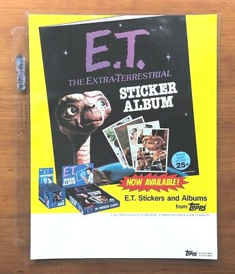 """1982 Topps """"E.T. (The Extra Terrestrial)"""" Stickers - Dealer Sell Sheet"""
