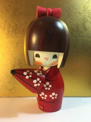 Kokeshi dolls Ombrellino -Made in Japan -in legno - Fatto a mano
